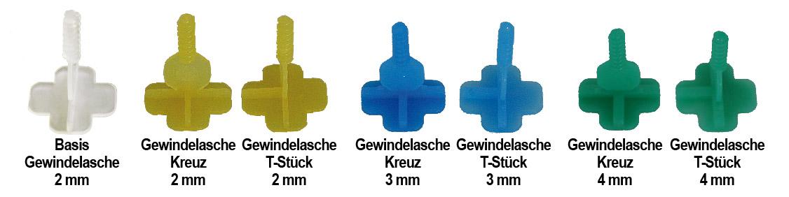 Fliesen-Verlegehilfe-Gewindelaschen